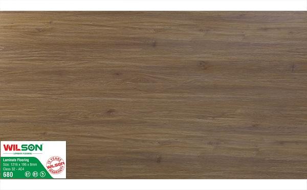 Sàn gỗ Wilson 8mm WS680 bản lớn