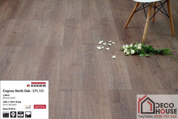 Sàn gỗ egger EPL100 với màu sắc sang trọng, vân gỗ sần tự nhiên chống trơn trượt