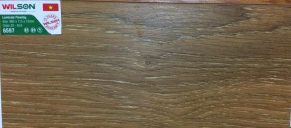 Sàn gỗ Wilson 12ly 6597 mặt sần