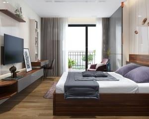 Sàn gỗ cho phòng ngủ hiện đại