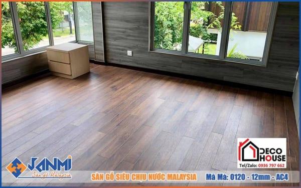 Hình ảnh thi công sàn gỗ Janmi O120 12mm lát sàn nhà
