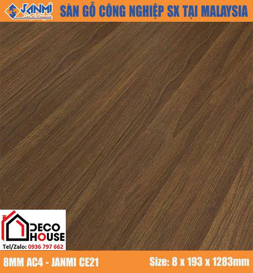 Sàn gỗ công nghiệp 8mm Janmi CE21