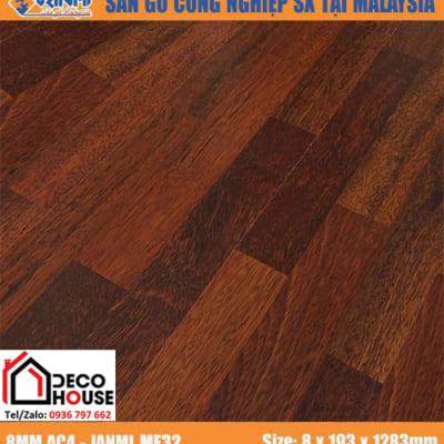 Sàn gỗ công nghiệp 8mm Janmi ME32