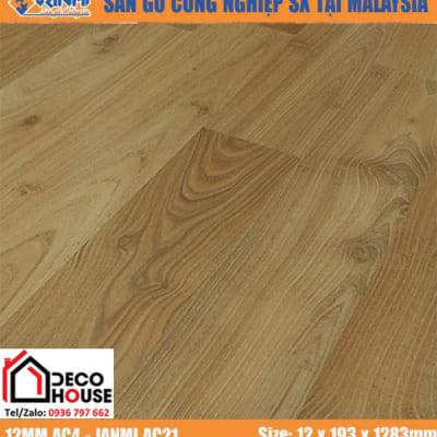 Sàn gỗ Janmi 12mm AC21 bản to