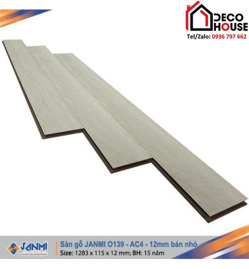 Sàn gỗ Janmi 12mm O139 bản nhỏ
