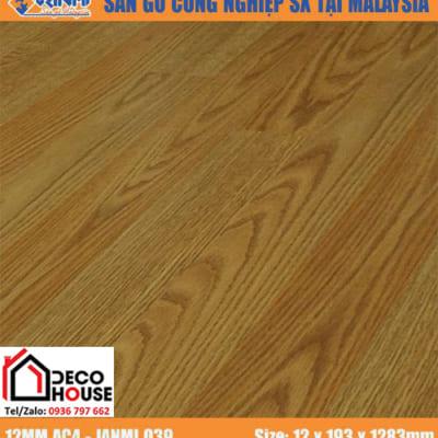 Sàn gỗ Janmi 12mm 039 bản to