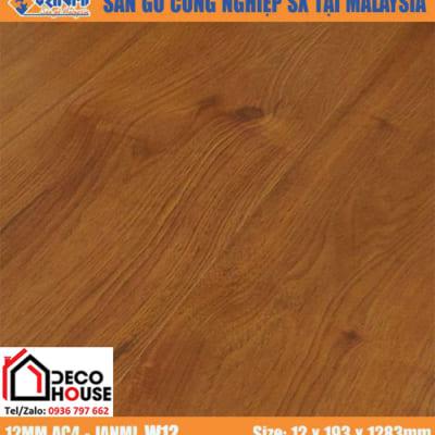 Sàn gỗ Janmi 12mm W12 bản to