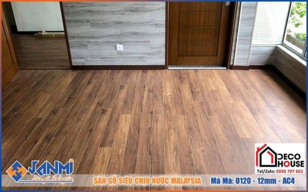 Sàn gỗ Janmi O120 - Sàn gỗ công nghiệp Malaysia chịu nước