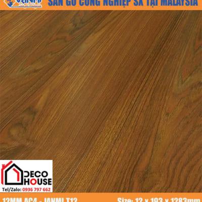 Sàn gỗ Janmi 12mm T12 bản to
