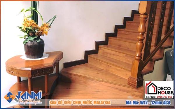 Sàn gỗ Janmi W12 12mm bản to