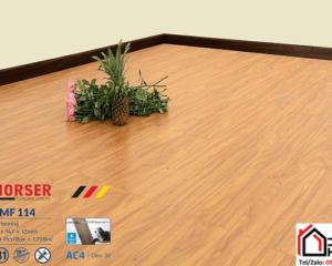 Sàn gỗ Morser cốt trắng 12mm MF 114