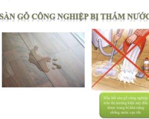 Cách xử lý khi sàn gỗ bị thấm nước, bị phồng rộp