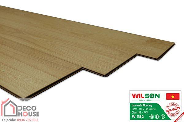 Sàn gỗ Wilson 8mm 552 bản lớn