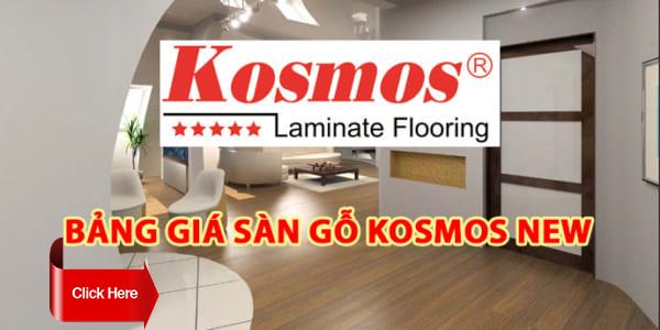 Báo giá sàn gỗ Kosmos - Sàn gỗ công nghiệp giá rẻ