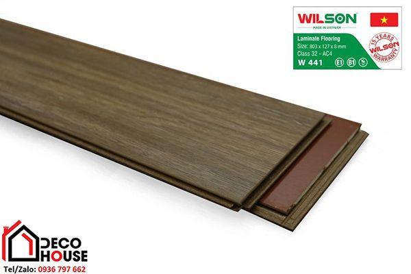 Sàn gỗ Wilson bản nhỏ 8mm 441